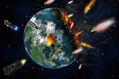 Конец стихийного бедствия планеты Стоковая Фотография RF