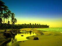сказовый взгляд берега моря Стоковое Фото