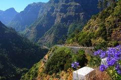 Сказовый горный вид в Мадейре Стоковые Фото