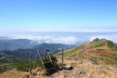 Сказовый горный вид в Мадейре Стоковые Изображения RF