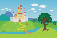 сказовый замок Стоковая Фотография