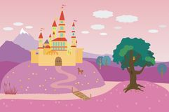 сказовый замок Стоковые Изображения