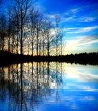 сказовый заход солнца Стоковое Изображение RF