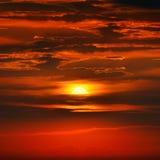 сказовый заход солнца Стоковая Фотография RF
