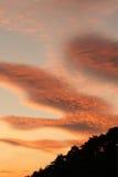 сказовый заход солнца Стоковые Изображения RF