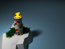 сказовый маяк 3d Стоковые Фотографии RF