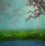 сказовый пруд Стоковая Фотография