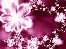 сказочные цветки иллюстрация штока