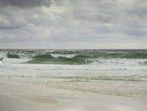 Сказочный бурный Seascape побережья мексиканского залива Стоковые Фотографии RF