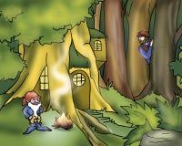 сказы героя эльфа fairy иллюстрация вектора