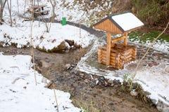 Сказ леса лыжного курорта около Алма-Аты, Казахстана Стоковая Фотография RF