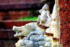 Сказ обезьяны и крокодила Стоковая Фотография RF