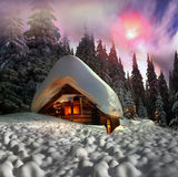 Сказ рождества для альпинистов стоковые фотографии rf