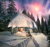 Сказ рождества для альпинистов стоковое фото rf