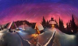 Сказ для альпинистов, 2014 рождества стоковые фотографии rf