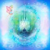 сказ princess замока fairy волшебный Стоковое фото RF