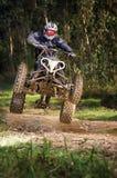 Скакать всадника квада Стоковая Фотография