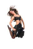 скакать девушки танцы брюнет сексуальный Стоковые Фото