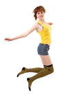 скакать девушки Стоковое Изображение RF