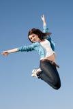 Скакать девушки Стоковые Изображения