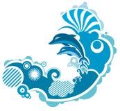 скакать дельфина бесплатная иллюстрация