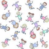 Скакать детей Стоковое Фото