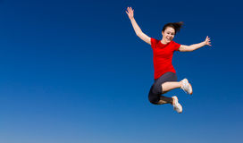 скакать девушки напольный Стоковые Фото