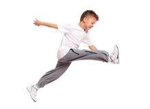 Скакать мальчика Стоковое Изображение