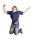 скакать мальчика Стоковое фото RF