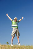 скакать мальчика Стоковая Фотография RF