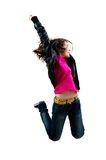 Скакать маленькой девочки Стоковая Фотография