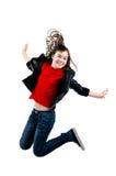 Скакать маленькой девочки Стоковые Фото