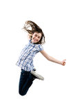 Скакать маленькой девочки Стоковые Изображения