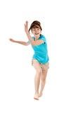 Скакать маленькой девочки Стоковые Фотографии RF