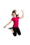 Скакать маленькой девочки Стоковая Фотография RF