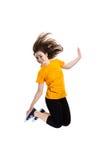 Скакать маленькой девочки Стоковое Изображение