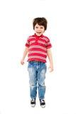 Скакать мальчика Стоковые Изображения RF