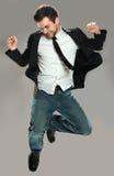 Скакать молодого человека Стоковые Фотографии RF