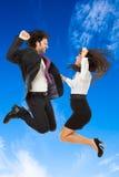 Скакать над голубым небом Стоковое Изображение