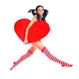 скакать сердца девушки Стоковое Изображение