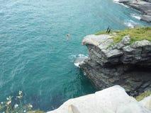 Скакать скалы надгробной плиты низкопробный Стоковое Изображение RF