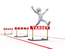 скакать следа барьеров цели человека 3d Стоковые Изображения