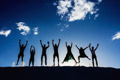 Скакать людей энтузиаста Стоковое Изображение RF