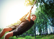 Скакать Bungee ребенк Стоковая Фотография RF