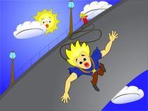 скакать bungee Бесплатная Иллюстрация