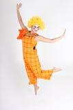 скакать costume клоуна счастливый Стоковое Изображение