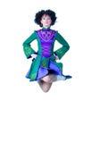 скакать irish танцора Стоковая Фотография RF