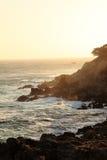 Скала захода солнца Стоковая Фотография RF