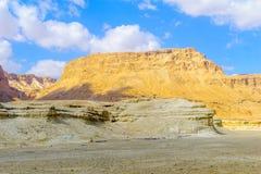 Скала и крепость Masada стоковая фотография
