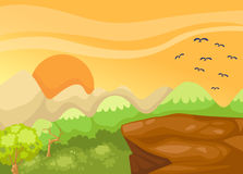 Скала ландшафта в джунглях Стоковые Изображения RF